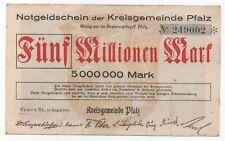 GERMANY SPEYER 5 MILLIONEN MARK 1923 EMERGENCY MONEY NOTGELD LOOK SCANS