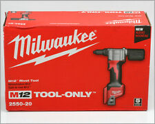 New MILWAUKEE M12 - RIVET TOOL - 2550-20 - Tool Only - In Box