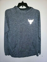 Mens Under Armour The Rock Project Long Sleeve Hooded Shirt Size Large L Loose