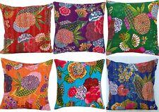 40 Stück 40.6cm Indisch Wohnkultur Früchte Bedruckt Kantha Kissenbezüge Handmade