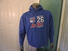 NHL New York Rangers Hockey Hoodie Sweatshirt Blue GUC
