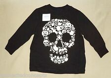 Halloween Glow-in-the-Dark Skull Infant/Toddler T-Shirt (Size 12-18m) NEW!