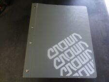Crown Lift Trucks SP42 Service & Parts Manual