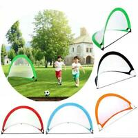 Kids Portable Football Goal-Net Outdoor-Play Training Gate Soccer w/Carry V6E3