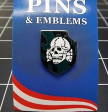 "BRAND NEW Lapel Pin Camo Skull & Shield 1"""