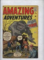 AMAZING ADVENTURES / FANTASY #1 MARVEL KEY MONSTER COMIC REPAIRED