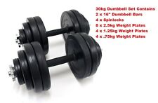 Dumbbell Set 30kg Dumbell Pair 2 x 15kg Dumbbells Fully Adjustable
