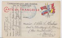 Frankreich Militärpostkarte - 1. Weltkrieg / gelaufen - bitte ansehen !!!