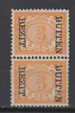 Nederlands Indie Netherlands Indies 85f pair MLH CANCEL BUITEN BEZIT kopstaand