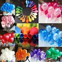 "100PCS 10"" Pearlised Latex Balloons Birthday Wedding Baby Shower Party Decor"
