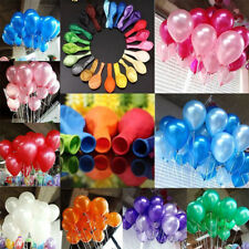 """100X 10"""" Pearlised Latex Balloons Birthday Wedding Baby Shower Party Decorations"""