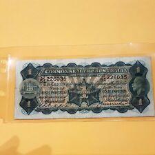 THE COMMONWEALTH OFAUSTRALIA R-26. One Pound (1927) - Riddle/Heathershaw J51