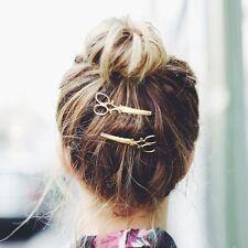 Gold Delicate Scissors Shears Hair Pin Gift for Hair Stylist Dresser