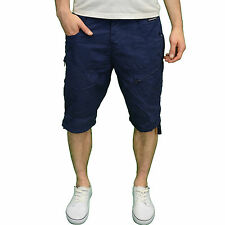 Crosshatch Mens DESIGNER Branded Summer Combat Casual Shorts Blue 38w