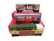 Coca-Cola Set of 3  0/027 Train Car 1992, 1993, & 1994 Ready-to-run