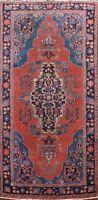 Antique Geometric Ardebil Hand-knotted Area Rug Home Decor Oriental 4'x8' Carpet
