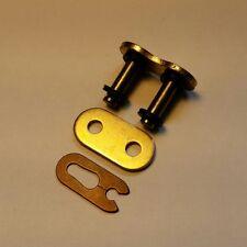 HD 520 X-ring split spring link chain motorbike Gold