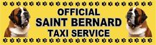 SAINT BERNARD OFFICIAL TAXI SERVICE Dog Car Sticker  By Starprint