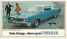 1967 Chrysler 300 2-Door Hardtop Original Vintage NOS Dealer Promo Postcard