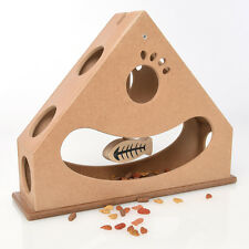 Interactive Fun IQ Puzzle for Dogs, Cats and Pets Food Treated Wooden Toy Game