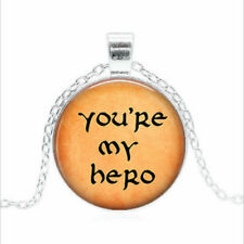 "20"" Necklace cable chain Free $10 Gift Word Proud Hero women men pendant Silver"