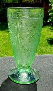 "Tiara Indiana Sandwich Chantilly Green 6¼"" x 3 1/8"" Ice Tea Glass Tumbler"