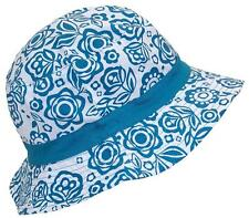 Solid Wing Reversible Summer Floppy Bucket Hat W/Hawaiian Designs #1010 Teal