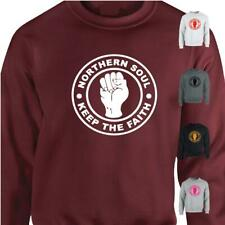 Northern Soul Badge Keep The Faith Mens Womens Sweatshirt MOD Motown Jumper