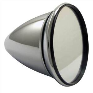 Racetech Classic Race Car Mirror, Bullet Style, Chrome Plated, Convex Glass
