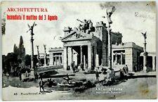Cartolina Formato Piccolo - Esposizione Di Milano 1906 - Architettura Incendiata