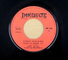 "CHRIS FARLOWE PAINT IT BLACK 1968 7"" RARE FRENCH PRESSING SINGLE VINYL EX"