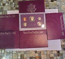 1985 S Proof Set US Mint Original Box 5 Coins: lot of 5