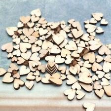 100pcs 4 Sizes Mixed Love Heart Shaped Wood Kids Painting Tool DIY Gift