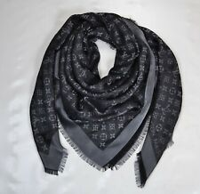 New Shawl Scarf LOUIS VUITTON MONOGRAM SHINE BLACK M75123