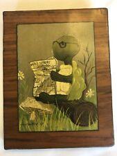 "Suzy Spafford Art 1967 Frog Reading Wall Street Journal ""The Financier�"