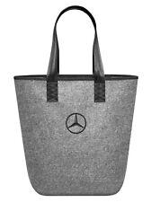 original Mercedes Benz Einkaufs Einkauf Tasche Beutel Shopper Filz grau Star NEU