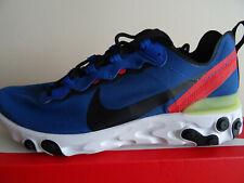Nike reaccionar elemento 55 Zapatillas Zapatos BQ6166 403 UK 8 EU 42.5 nos 9 Nuevo + Caja