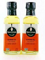 2 Pack 8oz Bottles Spectrum Culinary Almond Oil Expeller Pressed Natural Taste