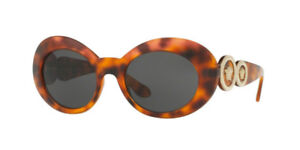 New Versace Women's Sunglasses VE4329 521487 53MM Havana Oval Medusa Fast Ship