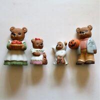 Vintage Homco Figurines #5209 Fall Harvest Halloween Bears New in Open Box