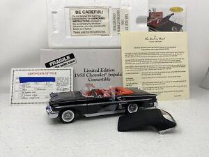 1/24 Danbury Mint 1958 Chevrolet Impala Convertible Black LIMITED