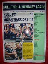 Hull FC 18 Wigan Warriors 14 - 2017 Challenge Cup final - souvenir print