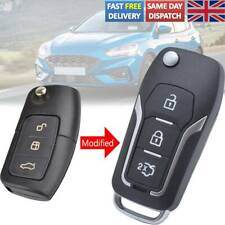 3 Button Modified Car Shell Case For Ford Fiesta Focus S-Max C-Max Mondeo B-Max