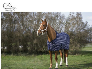 EQUITHEME SUMMER MESH SWEAT INSECT FLY RUG SHEET NAVY/ STARS FREE DELIVERY
