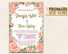 Wedding invitations Wedding Floral Invitation Wedding Party Invites Template