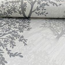 Diamond Tree Wallpaper Mono Grey - Arthouse 259001 Glitter