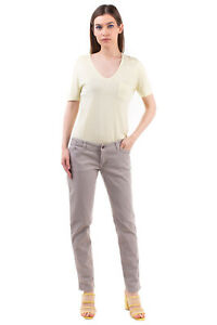 RRP €150 (+)PEOPLE Gabardine Trousers Size 32 Stretch Distressed Made in Italy