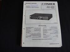 Original Service Manual Fisher AD-931