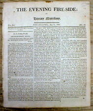 1806 Philadelphia newspaper w THE GREAT WALL OF CHINA Early detailed description