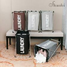 More details for oxford fabric collapsible folding laundry cloth hamper basket storage new